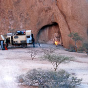 Camp at Spitzkoppe Namibia