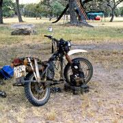 My stripped bike in Harare Zimbabwe