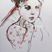"""Sofa II"" 21 x 29,7 cm, pencils on paper"