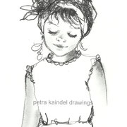 """Sweet little girl"", small size, monolith on paper - Sold"