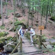 Holzbrücke über die Ilse