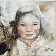 Sophie Bataille - Portrait aquarelle collage