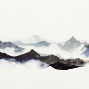 Sophie Bataille - Montagne Indigo - Technique mixte
