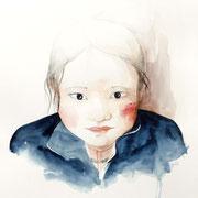 Sophie Bataille - Portrait aquarelle