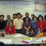 多国籍な生徒さん達と TESOLコース最後の教育実習にて