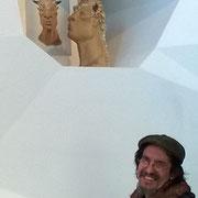 """""""Minotaure"""" Sculpture Céramique de Juan José Ruiz dit CACO artiste/auteur sculpteur"""