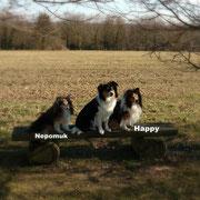 Nepomuk links und Happy rechts