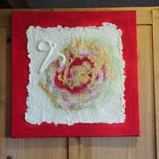 """Coloriertes Relief aus handgeschöpftem Papier zur Bachblüten - Essenz """"Vine"""", von SUSHMA Cornelia Bühler"""