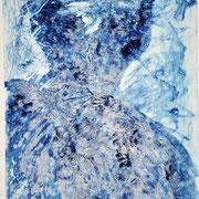Les souvenirs s'envolent, carborendum - pointe sèche, 60x80