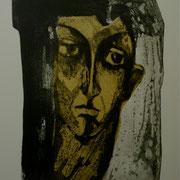 Portrait de femme, 50x65, eau forte et aquatinte