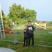 Moritz (l.) und Viktor (r.), unsere fleißigen Sprayer