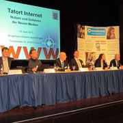 Podiumsdiskussion  (v.l.n.r. Markus Wortmann, Carsten Schulz, Rainer Lechtenböhmer, Gregor Schwarz, Natalie Mand, Horst Cerny)