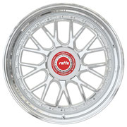 RAFFA WHEELS RS-03 ZV SILVER / RED CAP / LIP POLISHED