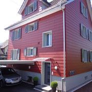 Fassade nachher D. Vogt Holzbau GmbH, 8855 Wangen SZ