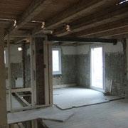 Innenausbau Wohnraum vorher D. Vogt Holzbau GmbH, 8855 Wangen SZ