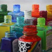 Colour Skyline II 2016|| Óleo sobre tabla, 110 X 110 cm.