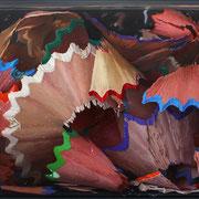 Colour shavings 2015 || Óleo sobre tabla, 85X190 cm.