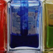 Cinco colores 2010 || Óleo sobre tabla, 43X140 cm.