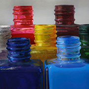 Formación de color II 2013 || Óleo sobre tabla, 85X190 cm.