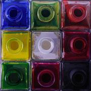 Nueve colores 2011 || Óleo sobre tabla, 109X109 cm.