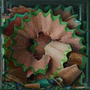 Virutas IV 2014 || Óleo sobre tabla, 80X80 cm.