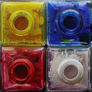 Cuatro colores 2012 || óleo sobre tabla, 100X102 cm