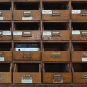Registerkästen aus der Zeit der Zwangsarbeiter