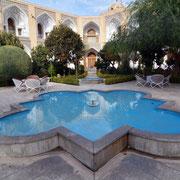 Isfahan, Hotel Abasi, Innenhof der ehemaligen Karawanserei