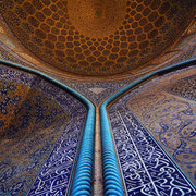 Isfahan, in der Lotfollah-Moschee
