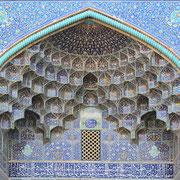 """Isfahan, Hauptportal der Lotfollah-Moschee am Königsplatz """"Meydan-e Imam"""""""