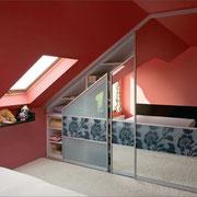 Schiebetüren in Dachschräge
