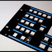 Frontplatte Pulverbeschichtet  2-farbig bedruckt Blau/Weiss
