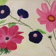 Blütenreigen, 80x60 cm