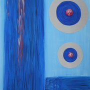 Blau, 70x100 cm