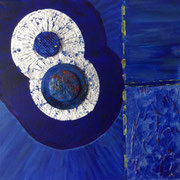 Trilogie blau, 30x30 cm