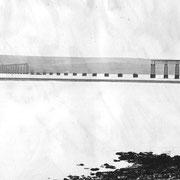 Le Tay Rail Bridge après la catastrophe (1880)