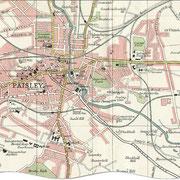 Carte de Paisley en 1923
