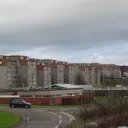 Vue de South Carbrain à partir de la gare ferroviaire