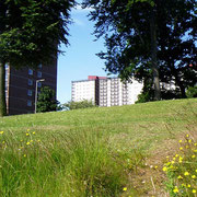 Immeubles d'un quartier populaire d'Ardler au nord ouest de Dundee
