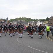 Défilé dans la ville d'Oban durant les Highland Games 2007.
