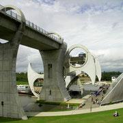 Vue globale de la roue de Falkirk