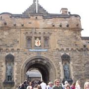 Porte d'entré du château d'édimbourg
