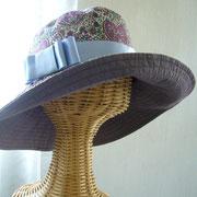 リバティー生地帽子