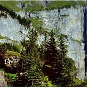 Die untere Fründenschnur vom Weg Unterbärgli - Oeschinensee