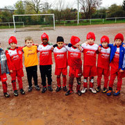 Team Wiesel nach dem 3:1 gegen Hertha Bonn