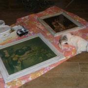 Wie laaaangweilig, jetzt malt Frauchen auch noch!