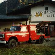 Gemeinschafts- Übung Laserer (FF Bad Goisern und FF Gosau) 1992