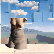 Magritte,  The summer Steps 1938