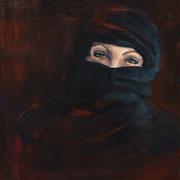 Femme soumise - Huile sur toile, 100*81