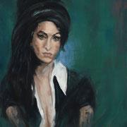 Femme addicte -  Huile sur toile, 100*81